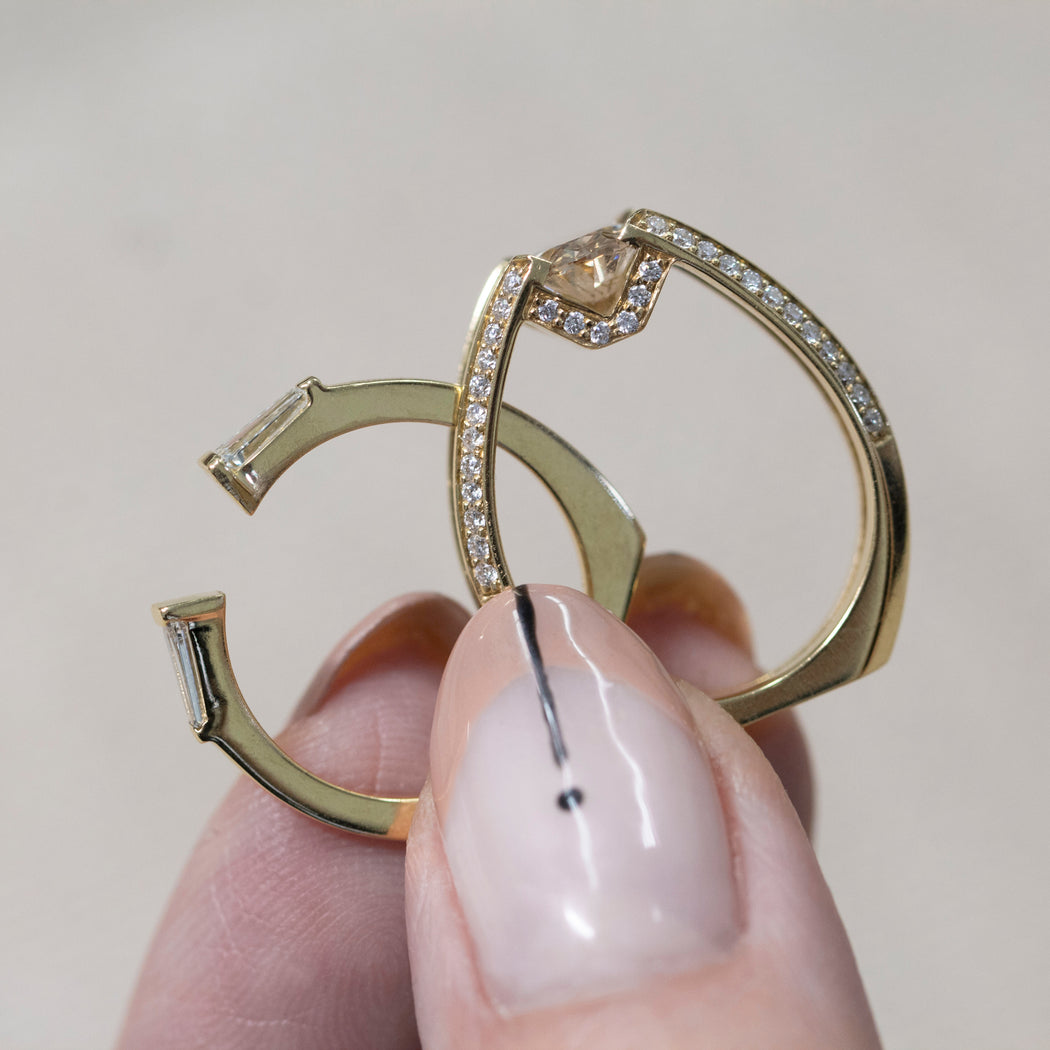 Futurist + Perspective Ring Set