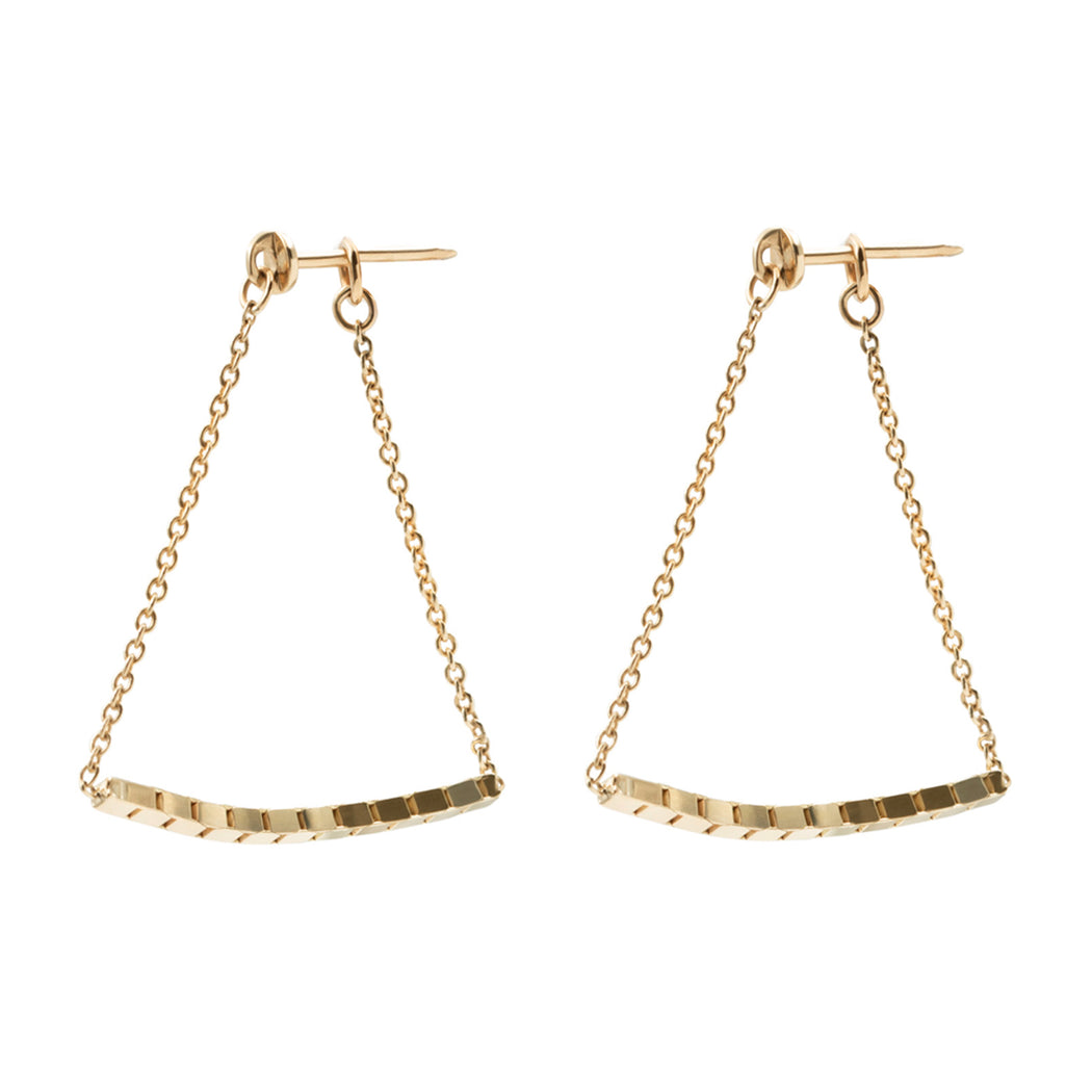 BLISS LAU GESTURE EARRING PETITE YELLOW GOLD CHAIN EARRING