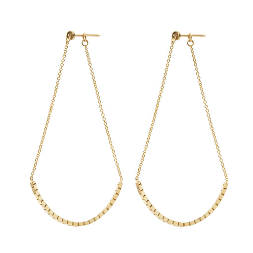 BLISS LAU GESTURE EARRING VAST YELLOW GOLD CHAIN EARRING