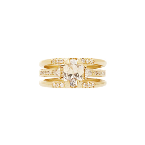 Gold Illuminate Magnetic Ring Pair