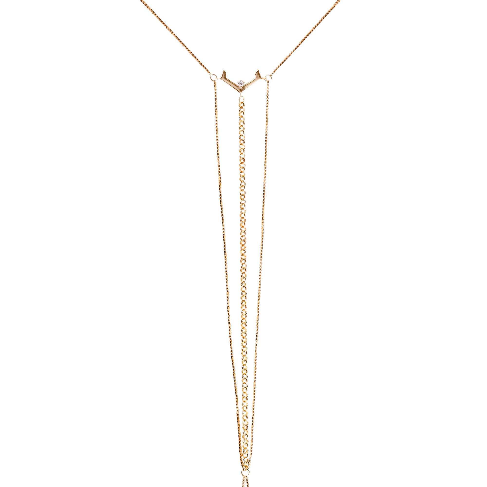 Interlude Bodychain Yellow Gold Vermeil + White Diamond