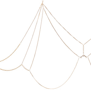 Lost in Light Bra Yellow Gold Vermeil + White Diamond