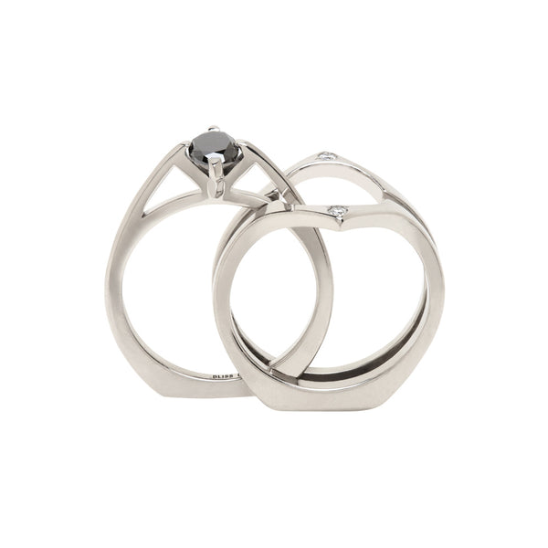 MINIMALIST ARC OSCULANT RING Pair