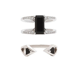 Mirage Reflection Ring Pair