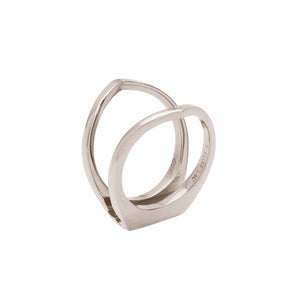 Oblique Enclose Ring White Gold