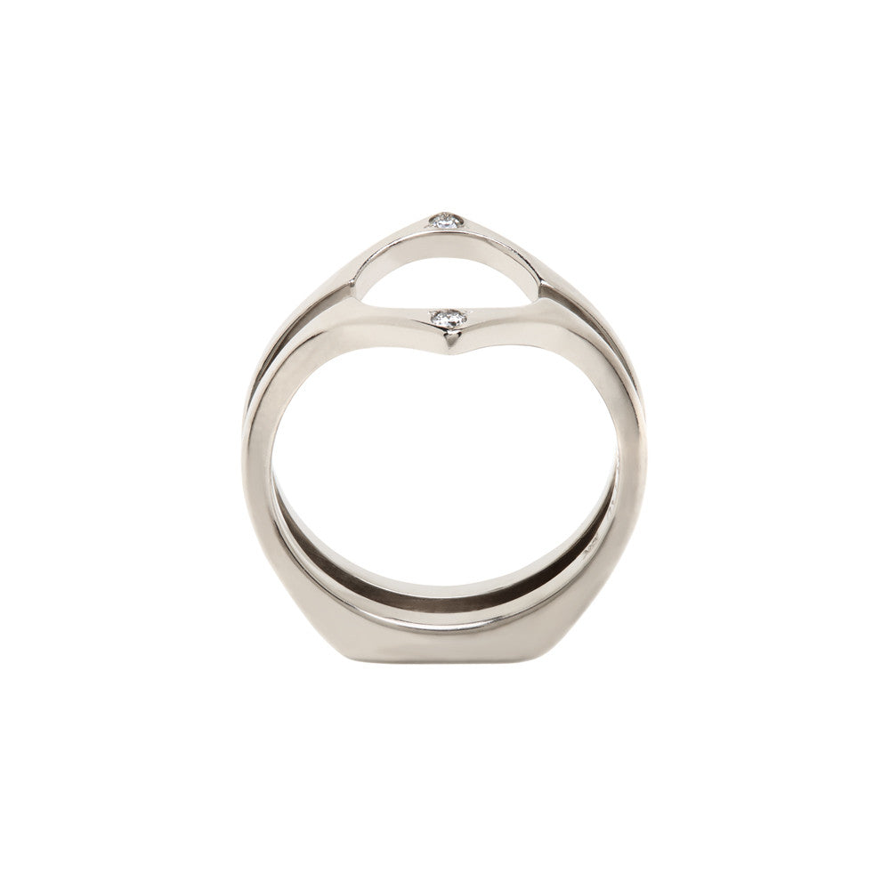 Osculant Enclose Band 18K Palladium White Gold