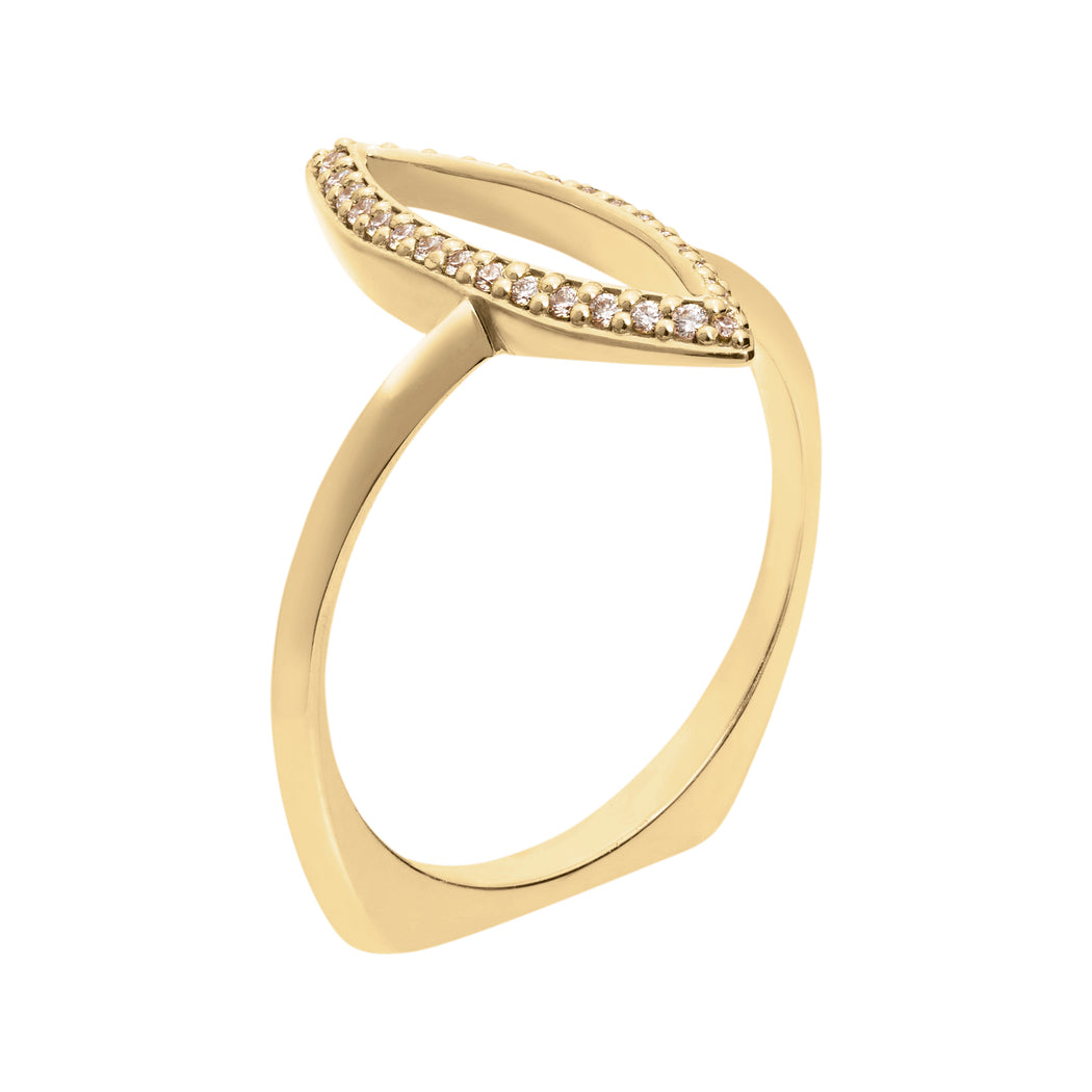 Marquise Outline Ring - in stock