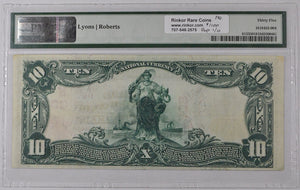 1902 Red Seal National Bank Note VF35 Fr. 613 Charter# 308 PMG $20