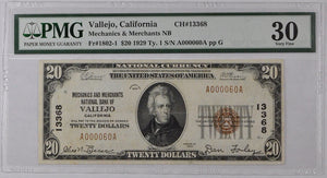 1929 Type 1 National Bank Note VF30 Fr. 1802-1 Charter# 13368 PMG $20