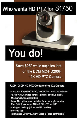 MC-HD200H - PTZ, NEW