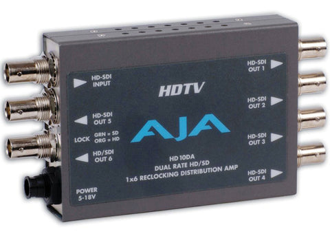 HD10DA - 1x6 HD/SD DUAL RATE RECLOCKING DA