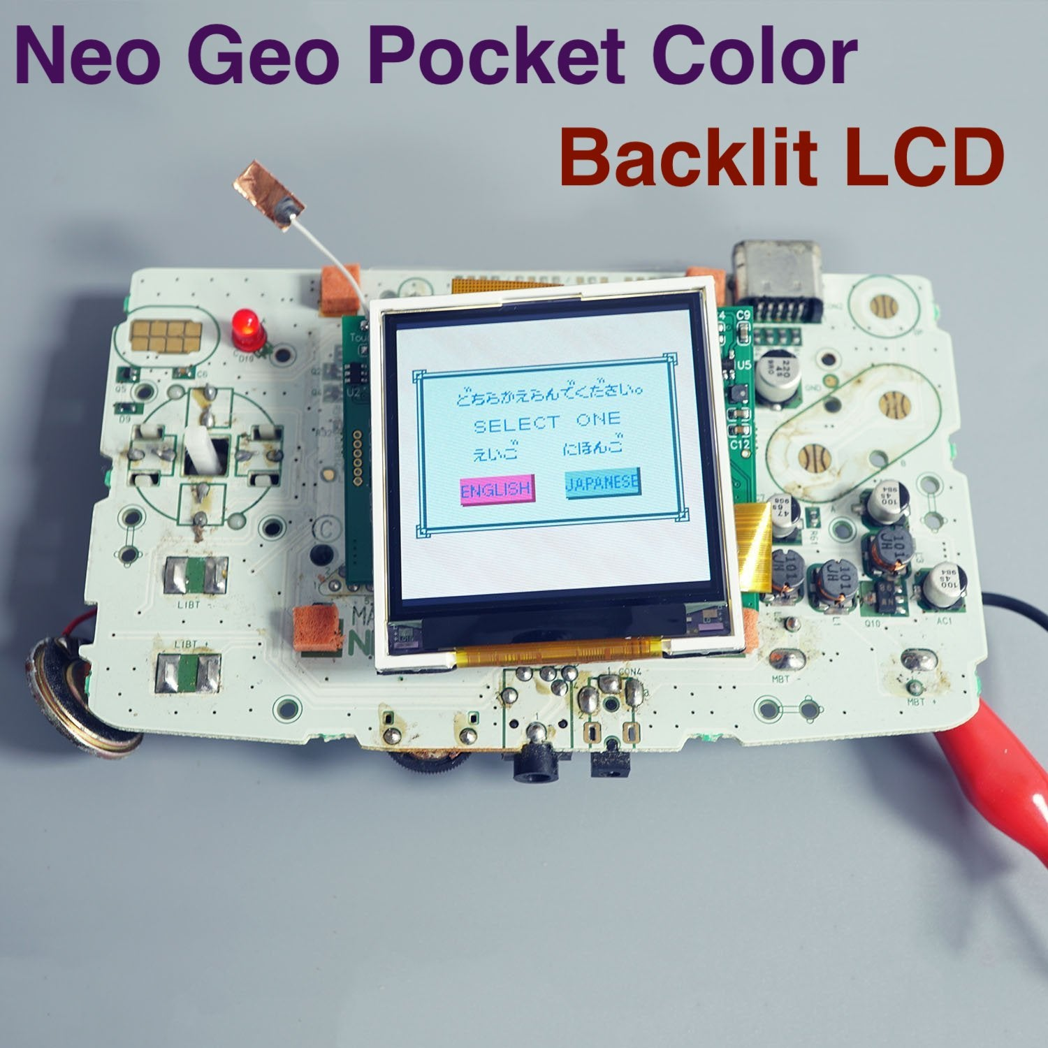 Hand Held Legend, HHL, Neo Geo, Neo Geo Pocket, Neo Geo Pocket Color, NGP, NGPC, backlit LCD, backlight, LCD