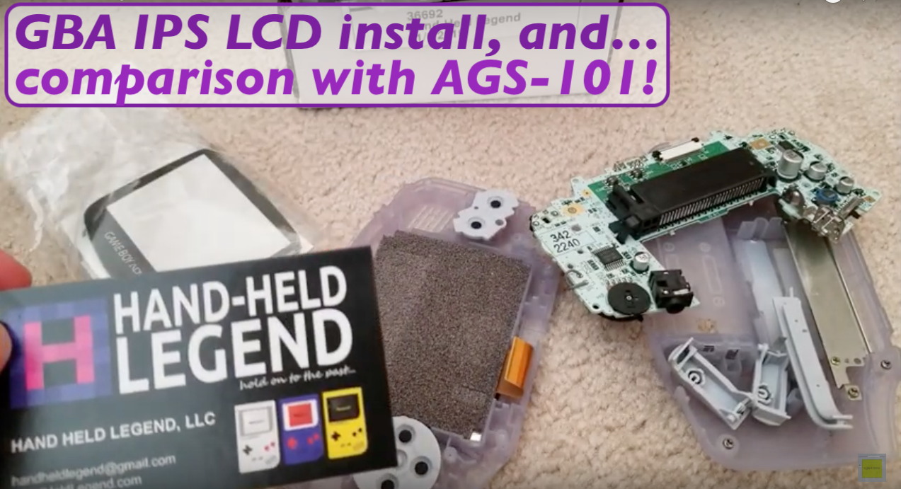 Hand Held Legend, HHL, Shawn Maxwell, sjm4306, Funny Playing, Funnyplaying, GBA IPS LCD, Game Boy Advance, GBA, AGB, AGB-001