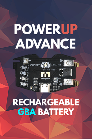 PowerUp Advance | Rechargeable GBA Battery Module