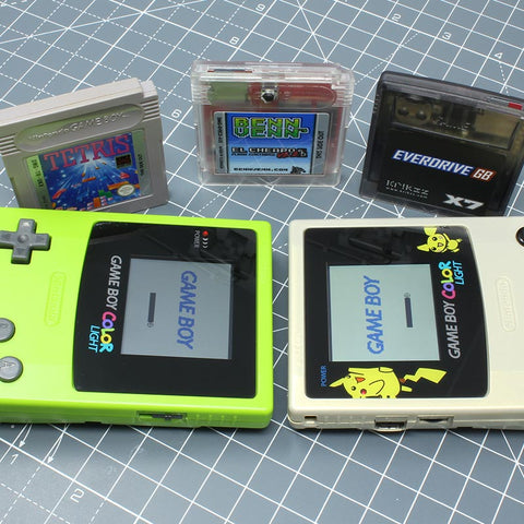 Freckle Shack vs. McWill Game Boy Color LCD Battery Life Test