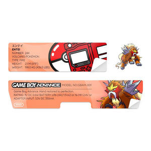 Game Boy Advance Shell Sticker