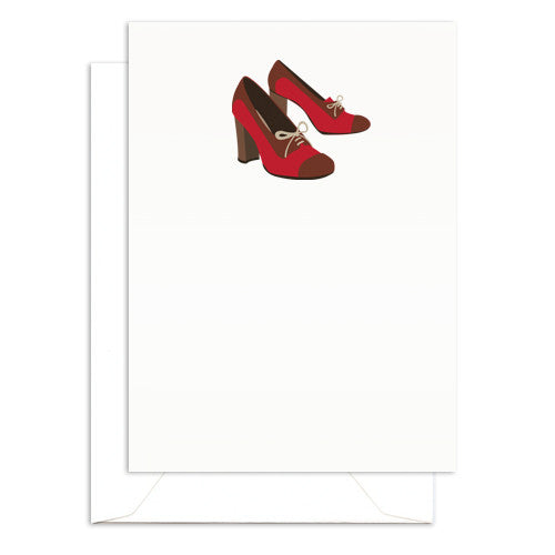 mini oxford shoe note card