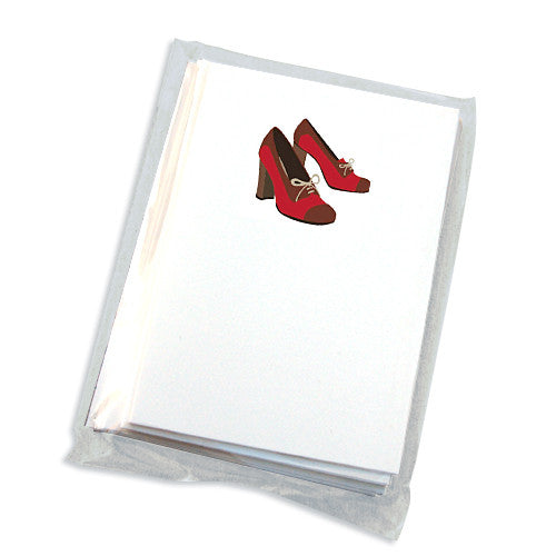 oxford shoe folded note card