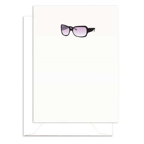 sunglasses mini blank folded note cards