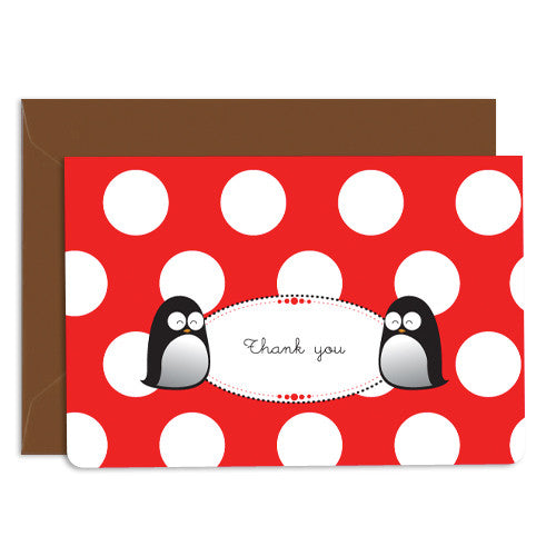 UFF penguin thank you card