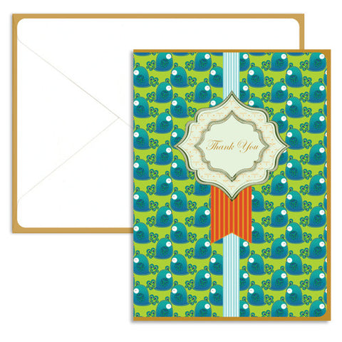UFF Peacock Recycled Note Card