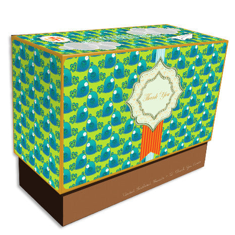 UFF peacock boxed note cards