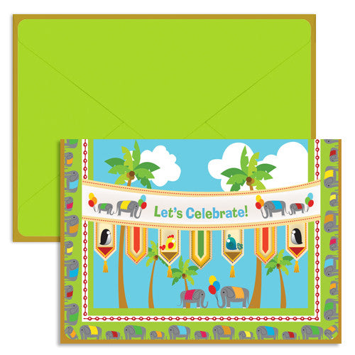 UFF sky celebration card with envelope