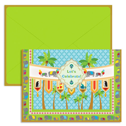 UFF tiles celebration card with envelope