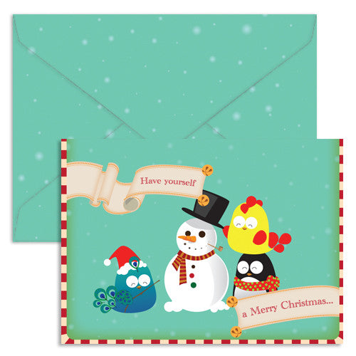 UFF single christmas card snowman