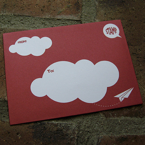 UFF christmas card envelope