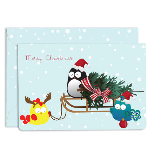 UFF christmas tree sled card