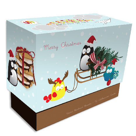 UFF Christmas preparation boxed note cards