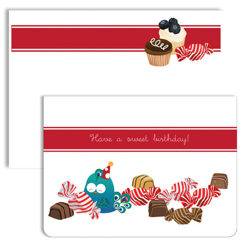 UFF birthday sweets note card