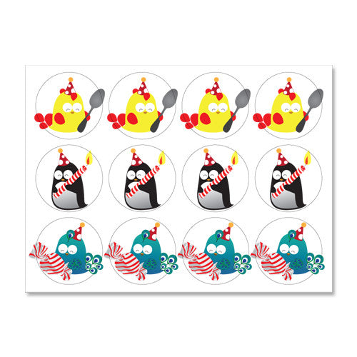 UFF birthday notes stickers