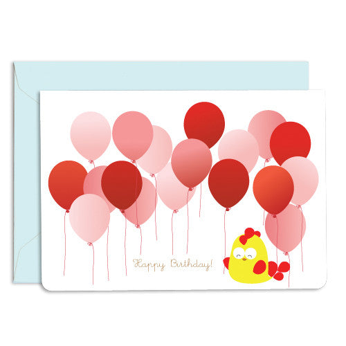 UFF rooster balloon card