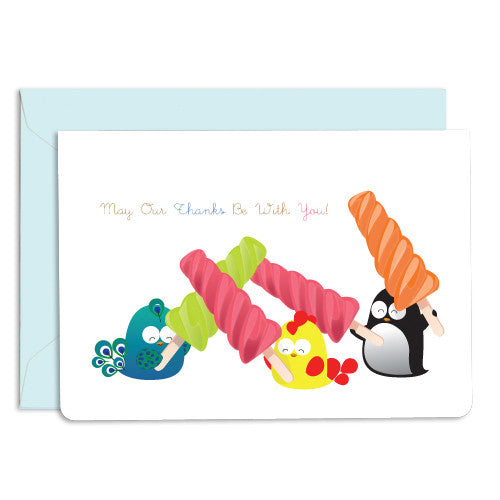 United Feathered Friends™ Thank You Popsicle Boxed Note Cards