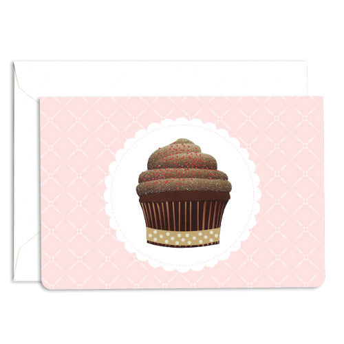 UFF dolce chocolate cupcake card