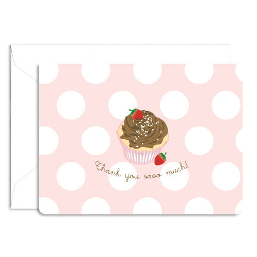 dolce cupcake thank you card