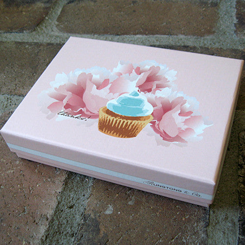 Dolce cupcake boxed thank you notes