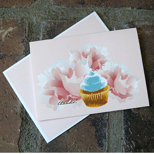 Dolce thank you blue frosting card