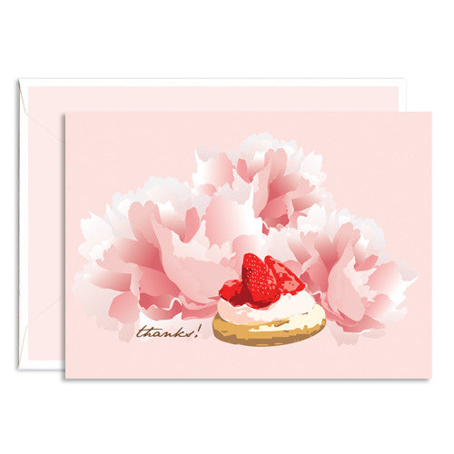 Dolce thank you card strawberry tart