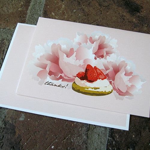 Dolce strawberry tart thank you card