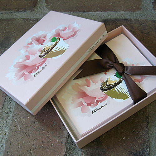 Dolce boxed thank you notes souffle ribbon