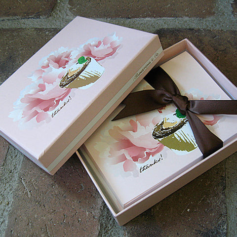 Dolce boxed thank you notes souffle