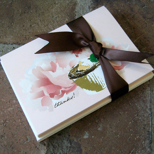 Dolce thank you card souffle ribbon