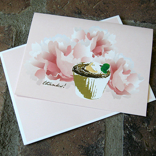 Dolce thank you card souffle