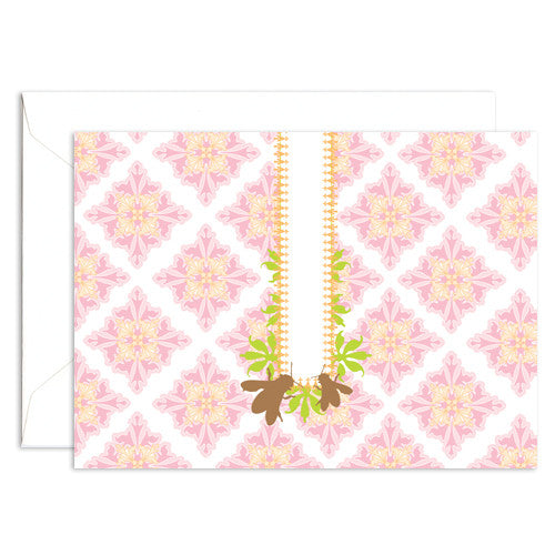 Signature Line Boxed Honey Bees Notecards in White