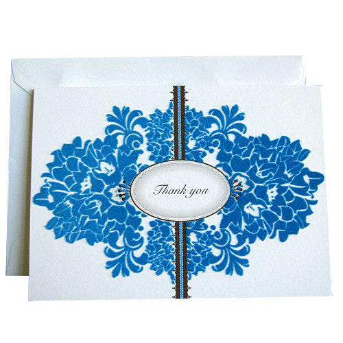 White Flocking thank you card