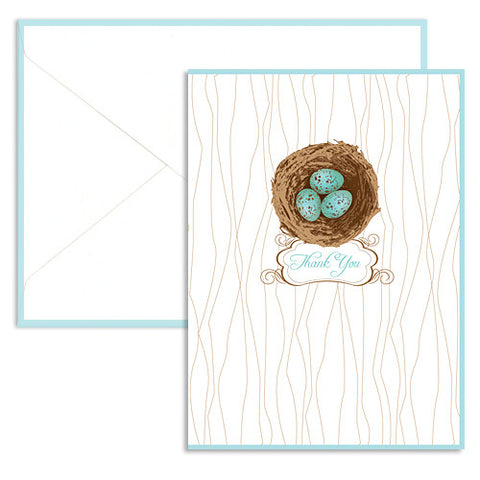 Robin's eggs thank you card