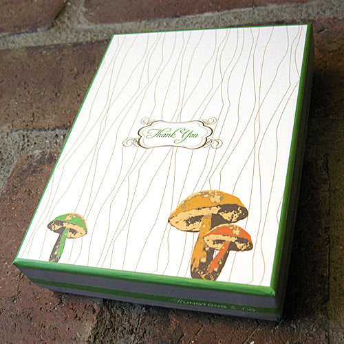 Mushroom boxed note cards